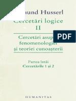 Edmund Husserl-Cercetari Logice II-Humanitas (2009)