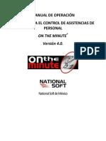 on the minute® 4.0 - manual de operacion