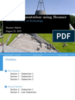 Latex Presentation Sample