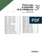 Fichas Desarrollo de La Inteligencia 3 Santillana