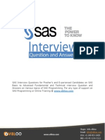 SAS Interview Question and Answers
