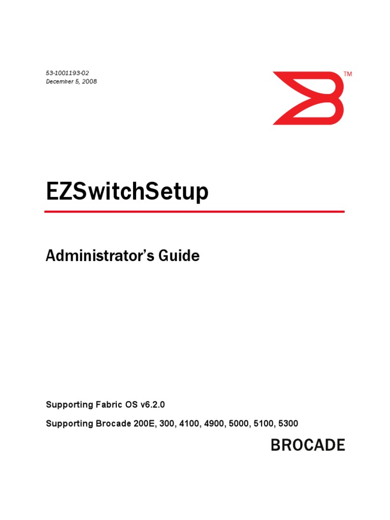 Brocade ezswitchsetup | java virtual machine | ip address.