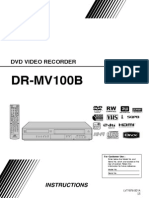 Jvc Dvd Video Recorder -- Dr-mv100b