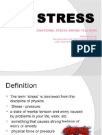 Emotional Stress Among Teachers