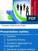 System Approach to Management, Rebat