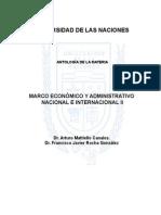 Marco Administrativo y Económico Nacional e Internacional