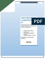 Bicarbonato y Orina Informe