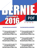 Bernie Sanders Campaign Flyers