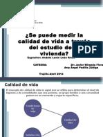 CALIDAD DE VIDA (Vivienda)