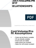 Cost/Volume/Profit Relationship