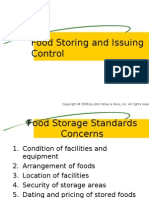 Food Storing and Issuing Control