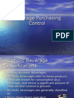 Beverage Purchasing Control