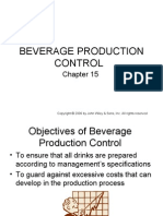 BEVERAGE PRODUCTION CONTROL