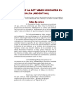 Historia de La Actividad Misionera en Salta_miguel Angel Lóp