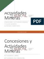 Identificación de Actividades Mineras - Abg. Oscar Echaiz Cabañas