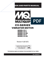 Manual Vibrator Concrete Motors CV1