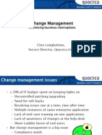 Change Management - Minimising business interruptions