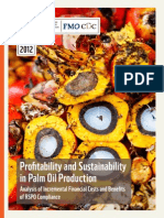 WWF Profitability and Sustainability in Palm Oil Production 2012