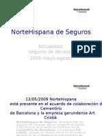 NorteHispana Seguros Notas de Prensa Mayo - Agosto 2009