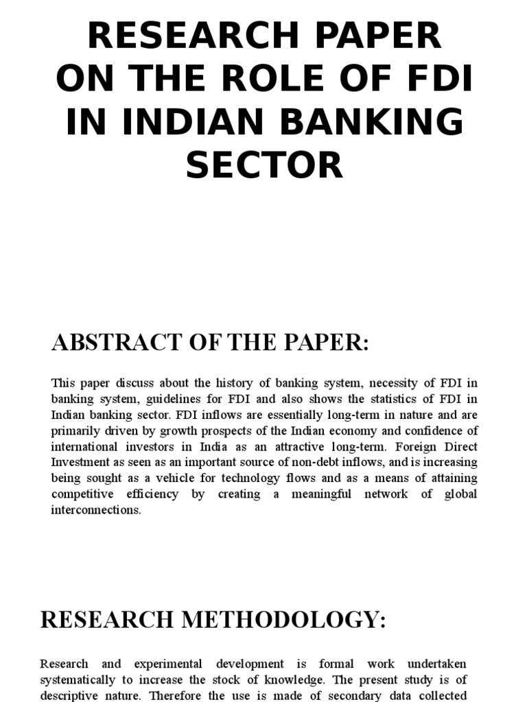 Research papers on fdi in service sector