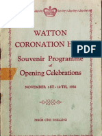 Watton Coronation Hall - 1956 Souvenir Programme