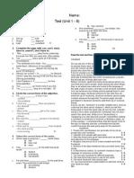 Test Za 9 IIg Polugodisen