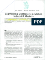 Section - 3.2Segmenting in Mature Markets