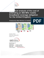 Ofcom 2012 4G 2nd Consultaton - Real-Wireless-Cost-Analysis