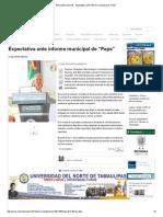 """09-02-2015 Expectativa Ante Informe Municipal de """"Pepe"""""""