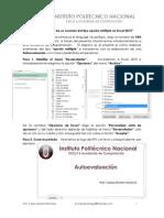 Tutorial Excel 2013 Autoevaluacion prof. Carlos Montiel R. IPN