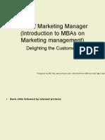 Introduction to Marketing Manager Skillset