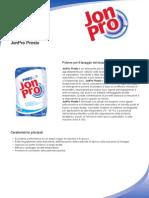 Detergente in polvere per lavaggio tessuti Jon Pro Presto
