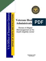 VA Inspector General Report on Healthcare Mismanagement