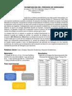 La Entalpia de Descomposición Del Peróxido de Hidrogeno Lab 5 de Fq PDF