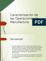 Caract de Las Oper de Manufactura