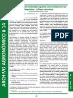 Concentración de nutrientes en planta como herramienta de diagnóstico