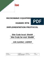 Huawei RTN INome do arquivo:Huawei RTN Implementation Protocol.docmplementation Protocol