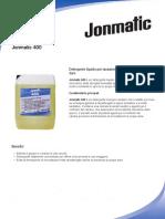 Detergente liquido per stoviglie Jonmatic 400