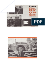 Canonet QL17 Manual