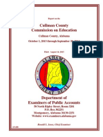 Condensed Report on the Cullman County Commission on Education Cullman County, Alabama - October 1, 2013 Through September 30, 2014