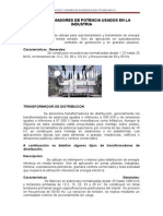 Transformadores utilizados en la industria