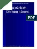 Gestão Da Qualidade TQM e Modelos Execelencia