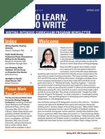 WIC Newsletter Spring 2015