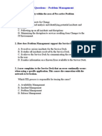 ITIL V2 Questions - Problem Management