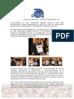 FELICITAMOS AL ING. GILDARDO GÓMEZ PELAYO POR SER RECONOCIDO COMO INGENIERO DEL AÑO 2015 POR LA ASOCIACIÓN MEXICANA DE INGENIEROS Y TÉCNICOS EN RADIODIFUSIÓN AC.