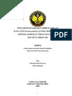 Pengaruh Penambahan Serbuk Gergaji Kayu Jati (Tectona