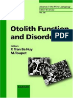 Otolith Function and Disorders