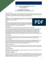 Comunicado ao Mercado - Balan?o Operacional - Agosto 2015