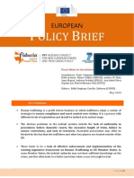 Policy Brief on Human Trafficking