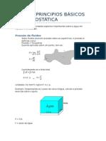 Principios de Hidrostatica